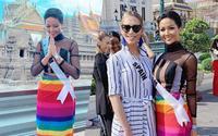 Hình ảnh đẹp nhất ngày: H'Hen Niê diện váy LGBT, chụp ảnh cùng hoa hậu chuyển giới Tây Ban Nha