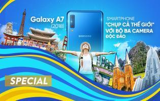 Galaxy A7 (2018): smartphone 'chụp cả thế giới' với bộ ba camera độc đáo