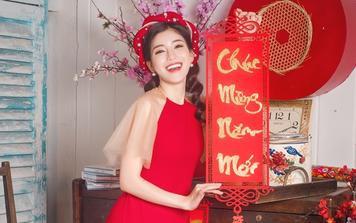 Ngọc Ánh khoe ảnh diện áo dài nền nã đón Tết, fan hỏi nhau: 'Cô Pie lầy lội mất đâu rồi?'