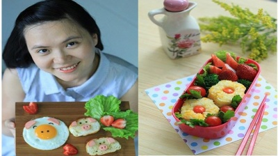 8 mẫu cơm 'bento vui vẻ' không lo béo của nghệ nhân Cẩm Ly