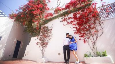Santorini - điểm chụp ảnh cưới siêu lãng mạn của 'hội nhà giàu' Việt