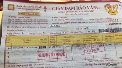 Sự thật vụ công ty vàng Bảo Tín Minh Châu bị tố lừa đảo