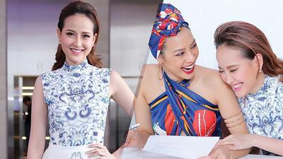 Hoa khôi Khánh Ngân rạng rỡ hội ngộ Lilly Nguyễn làm giám khảo casting The Face miền Nam