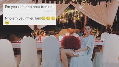 Hồ Ngọc Hà lần đầu tiên khoe tin nhắn yêu thương của bạn trai