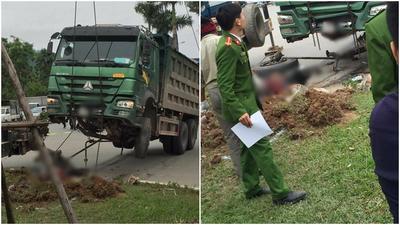 Ôtô tải tông chết người đàn ông đi xe máy, thi thể không còn nguyên vẹn