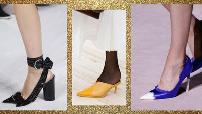 Xưa rồi giày cao gót lêu khêu, giày cổ chữ V đế thấp mới là mốt hot nhất xuân 2018