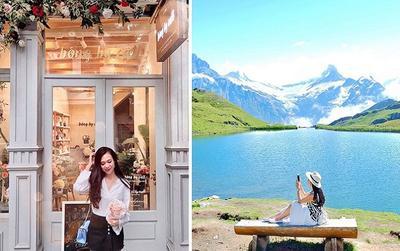 9X xinh đẹp thả dáng giữa Thụy Sỹ đẹp mơ màng như một bức tranh