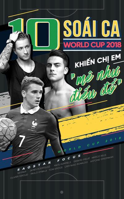 10 soái ca World Cup 2018 khiến chị em