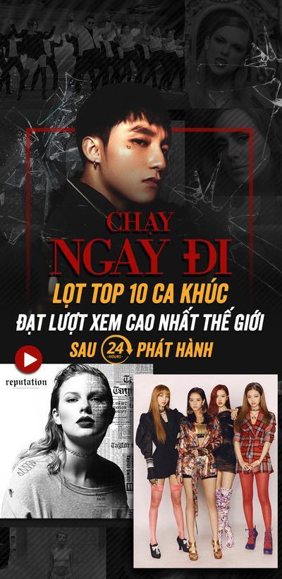 'Chạy ngay đi' lọt top 10 ca khúc đạt lượt xem cao nhất thế giới sau 24 giờ phát hành