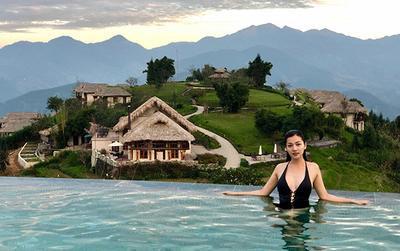 Hoa hậu Thái Nhiên Phương khoe đường cong mỹ lệ giữa trời Sapa