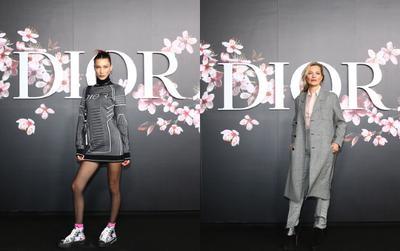 Bella Hadid  - Kate Moss chị chị em em 'chặt đẹp' trong show Dior Homme