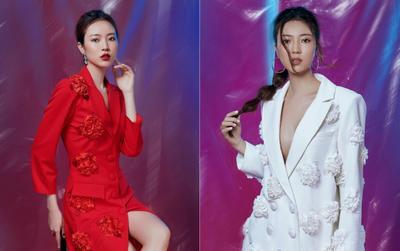 Siêu mẫu phong cách 2018 Ngọc Bích thả dáng cùng váy đính cả vườn hoa đón xuân
