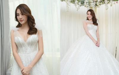 Bóc giá váy cưới nửa tỷ đồng, khiến Lê Hà The Face hóa công chúa trong đám cưới