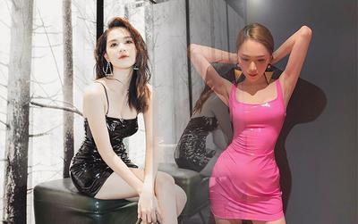 Váy nhựa vinyl lộ nhiều góc chết nhưng đến Hương Giang - Ngọc Trinh mặc thì đều 'tắt điện hết'