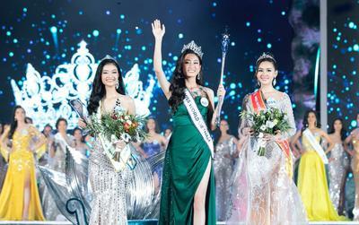 Bí mật về 'vận may' của chiếc váy xanh tân hoa hậu Lương Thùy Linh mặc đêm chung kết