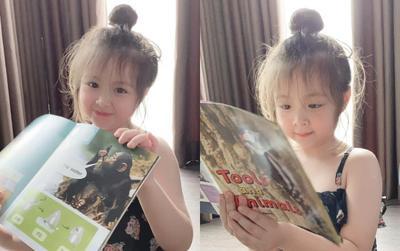 Đăng ảnh học bài chăm chỉ, con gái Elly Trần đốn tim mọi người vì quá xinh xắn, đáng yêu