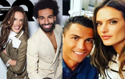 Chụp ảnh nóng với 'crush' Ronaldo, Salah bị chỉ trích