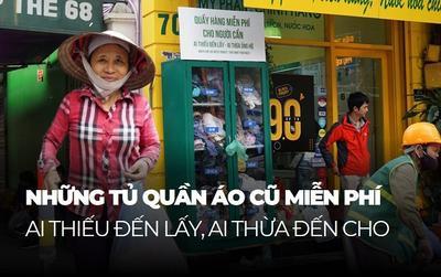 Ấm lòng những tủ quần áo miễn phí cho người lao động nghèo giữa thủ đô Hà Nội