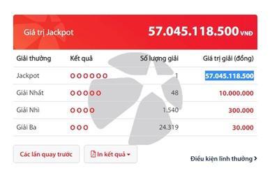 Người trúng giải độc đắc Vietlott cuối cùng của năm 2019 với trị giá 57 tỷ đồng