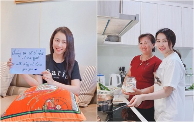 Nghỉ dịch được Tiến Linh chăm chút, Huỳnh Hồng Loan tăng cân chóng mặt
