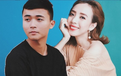 Thu Trang cover Anh thanh niên, cộc cằn nhắc nhở HuyR: 'Sao em giành hát với chị hoài vậy?'