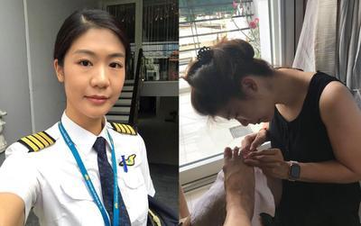 Nghỉ dịch lâu ngày, nữ cơ trưởng đầu tiên tại Việt Nam khiến dân tình 'lác mắt' khi kiêm từ dạy học đến làm nails