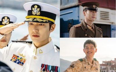 3 pairs of actors wearing the most handsome military uniforms