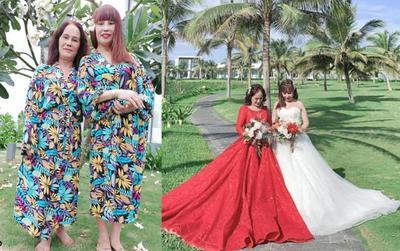 Vừa 'tân trang nhan sắc', vợ chồng 'cô dâu 62 tuổi' rạng rỡ chụp ảnh cưới trên bãi biển cùng cặp đôi 'cô dâu 65 tuổi'