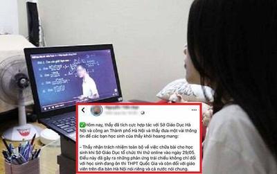 Thầy giáo tung lời giải lên mạng khi học sinh lớp 12 Hà Nội đang làm bài khảo sát chất lượng đã làm việc với Công an