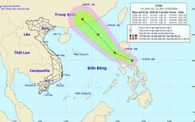 Áp thấp nhiệt đới đi sẽ vào Biển Đông và có khả năng mạnh lên thành bão
