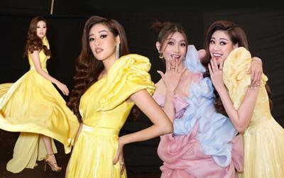 Chế Nguyễn Quỳnh Châu gợi cảm 'hết nấc', 'chị chị em em' khoe sắc cùng Hoa hậu Khánh Vân