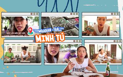 Minh Tú hài hước khám phá chợ hải sản Jimbaran - Bali, trước khi chính thức về Việt Nam