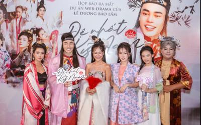 Họp báo phim 'Đệ nhất kỹ nam': Lê Dương Bảo Lâm 'e thẹn' bên dàn trai đẹp, Nam Thư hóa kiều nữ quyến rũ