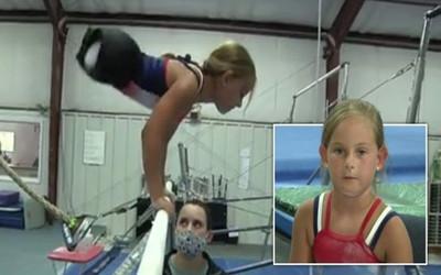 Bé gái không chân với nghị lực phi thường trở thành vận động viên thể dục dụng cụ