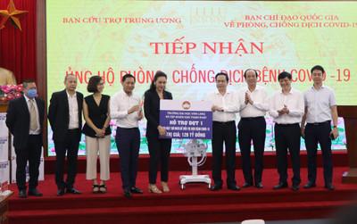 Đại học Văn Lang và Tập đoàn Vạn Thịnh Phát trao tặng 500 máy thở MV20 cho Mặt trận Tổ quốc Việt Nam - Bộ Y tế