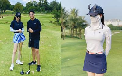 Style chơi golf của dàn mỹ nhân Việt: Hương Giang khoe đôi chân cực phẩm, Huyền My lại kín bưng