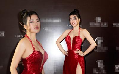 Emily Hồng Nhung mặc váy cắt xẻ cực gắt, đọ sắc bên Mộng Thường Hoa hậu chuyển giới Việt Nam 2020
