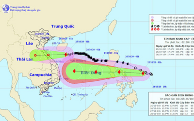 Bão số 8 tiến vào Hà Tĩnh - Quảng Trị, bão số 9 đang di chuyển nhanh vào Biển Đông