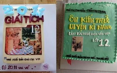 Giới học trò khoe loạt bánh kem độc lạ mừng 20/11, ấn tượng nhất là những chiếc bánh in hình SGK