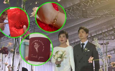 Ngắm những món quà siêu dễ thương trong loạt đám cưới của Công Phượng và Viên Minh dành tặng khách mời