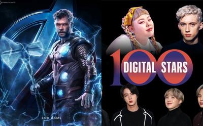 Nam diễn viên Thor là người duy nhất trong MCU lọt top 100 người có sức ảnh hưởng nhất MXH