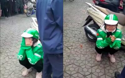 Grab xác minh thông tin nữ tài xế xe ôm công nghệ khóc nức nở giữa phố vì bị khách lừa lấy điện thoại