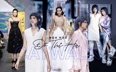 Hoa hậu Đỗ Thị Hà catwalk: khi bị 'át vía', lúc thần thái hơn người