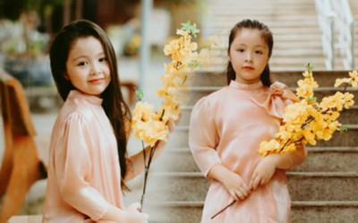 Con gái Elly Trần gây sửng sốt khi diện áo dài xinh xắn ra dáng thiếu nữ