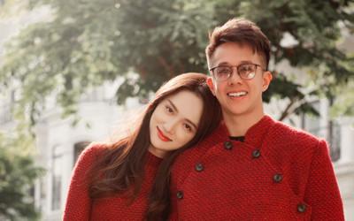 Hương Giang e ấp diện đồ đôi cùng Matt Liu sáng mùng 1: Đón tết xa nhà nhưng chỉ cần có nhau là ấm áp!