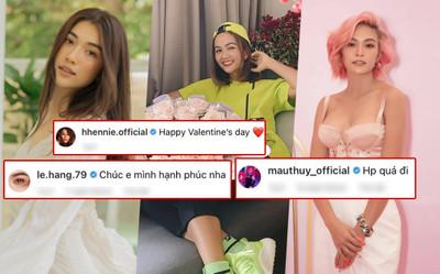 H'Hen Niê nhận hoa Valentine, Lệ Hằng - Mâu Thủy chúc mừng hạnh phúc, fan nghi ngờ đã có người yêu?