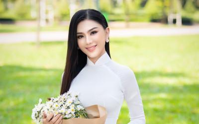 Từng mắc lỗi 'chí mạng' với áo dài trắng, Lâm Khánh Chi 'ghi điểm' với hình ảnh nền nã hiện tại