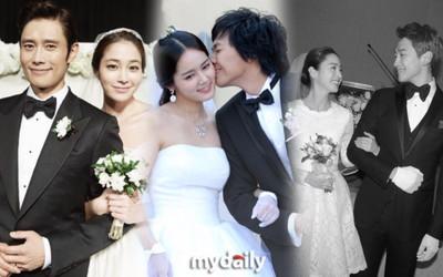 17 đám cưới thế kỷ của sao Hàn (P1): Kim Tae Hee tự thiết kế váy cưới 0 đồng, Lee Min Jung diện váy 2 tỷ!