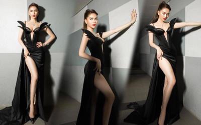 Ngọc Trinh 'bùng nổ' sắc đẹp khi diện váy xẻ cao, khoe ngực đầy