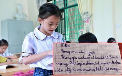 Cô bé tiểu học viết văn khen chị gái chăm sóc mình chu đáo, câu chốt lại 'bẻ lái' không ai ngờ tới